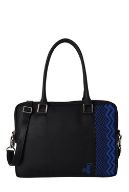 Baggit Skew Tingtong Black & Blue Laptop Shoulder Bag