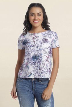 Only White Floral Print Top