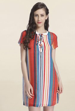Only Multicolor Striped Above Knee Dress - Mp000000001586492