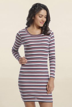 Only Multicolor Striped Above Knee Dress