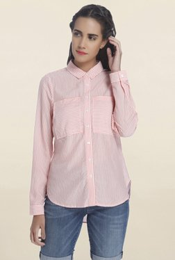Vero Moda Pink & White Striped Shirt