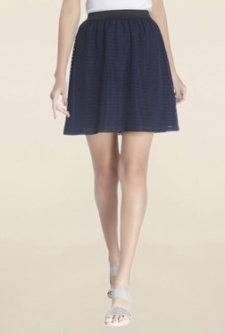 Vero Moda Navy Lace Above Knee Skirt