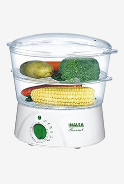 Inalsa Gourmet 5 L Food Steamer (White)