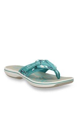 557ff9325b7c TATACLIQ. Clarks Brinkley Jazz Sea Green Thong Sandals