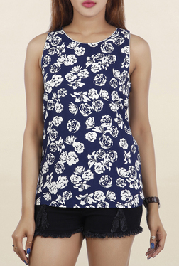 Chemistry Blue Floral Print Top