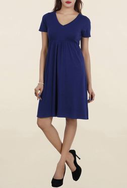 Chemistry Blue Knee Length Dress