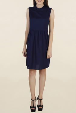 Chemistry Navy Knee Length Knee Length Dress