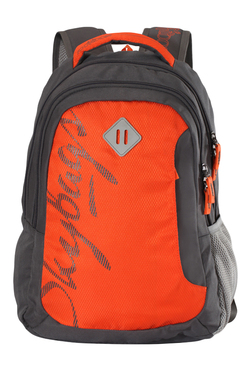 791897485e34 Skybags Footloose Leo 01 Orange   Grey Color Block Backpack