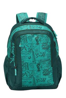 cfafd0b335 Skybags Bingo Plus 02 Blue   Green Printed Polyester Backpack Best ...