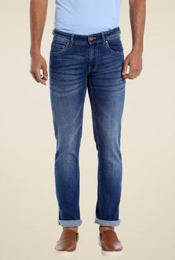Numero Uno Dark Blue Slim Fit Low Rise Jeans