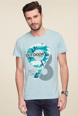 Status Quo Turquoise Round Neck T-Shirt