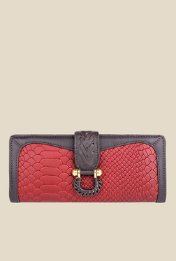 Hidesign EE Frieda W1 Red Textured Bi-Fold Leather Wallet