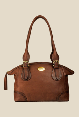 28978a151e72 Dark Brown Leather Shoulder Bag - HIDESIGN Best Deals With Price ...