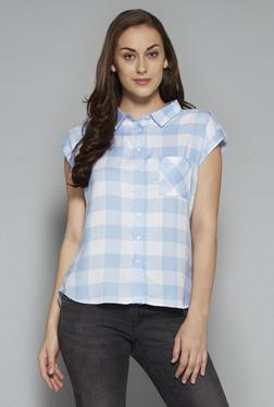 LOV By Westside Light Blue Topaz Shirt
