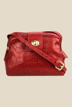 Hidesign Paulina 02 Red Leather Sling Bag