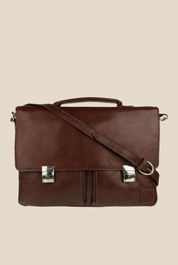 Hidesign Slider 02 Brown Leather Messenger Bag