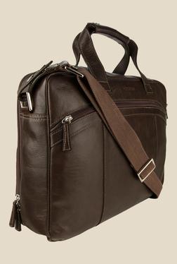 Hidesign The Ridgeway 01 Brown Leather Messenger Bag
