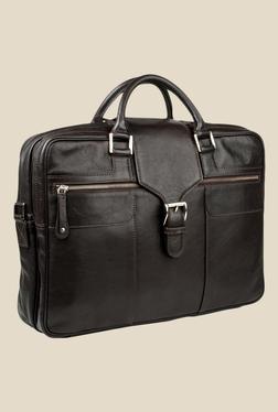 077b077317bd78 Hidesign Golf 02 Brown Leather Messenger Bag