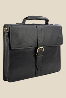 Hidesign Sb Bennett 1 Black Leather Messenger Bag