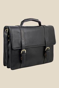 Hidesign Sb Bennett 2 Black Leather Messenger Bag