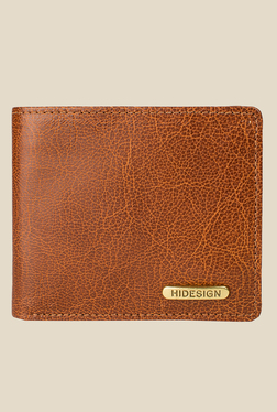 Hidesign Indigo MW1 Tan Bi-Fold Leather Wallet