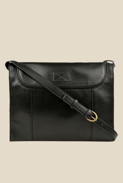 Hidesign Brunel 04 Black Leather Messenger Bag
