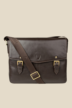 Hidesign Douglas 02 Brown Leather Messenger Bag