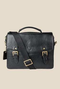 df65f1b7cc19 Hidesign Douglas 04 Black Leather Messenger Bag