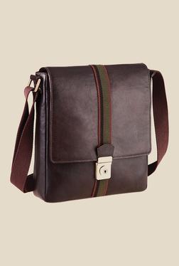 Hidesign Marley 02 Brown Solid Leather Sling Bag