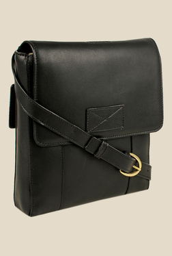 Hidesign Brunel 03 Black Solid Leather Sling Bag