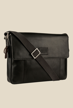 Hidesign Stephenson 01 Black Solid Leather Sling Bag