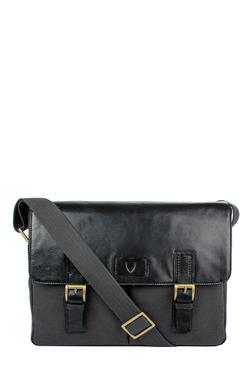 Hidesign Bedouin 02 Black Leather Messenger Bag