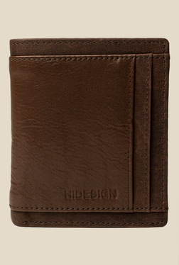 Hidesign 266-144B Brown Bi-Fold Leather Wallet