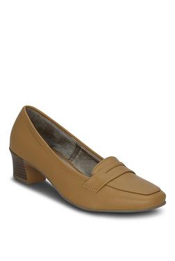 Get Glamr Optimum Dark Beige Loafers