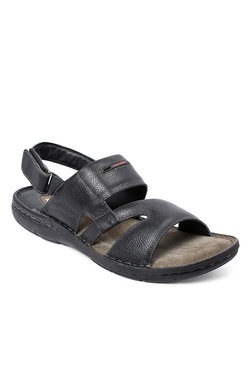 Red Chief Black Back Strap Sandals