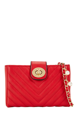 Aldo Roredia Red Quilted Sling Bag