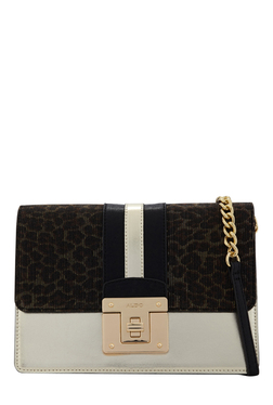 Aldo Curtarolo Golden & Black Printed Sling Bag
