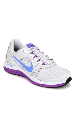 Nike Dual Fusion Light Grey & Purple Running Shoes