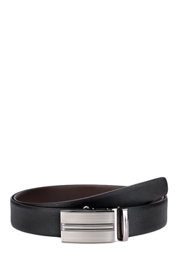 Teakwood Leathers Black Solid Narrow Belt