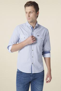 Urban Scottish Blue Printed Button Down Collar Shirt