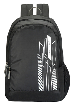 Aristocrat ZING 1 Black & White Printed Polyester Backpack