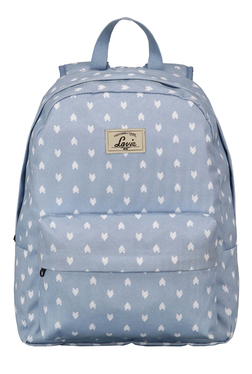 Lavie Bondy 2 Sky Blue & White Printed Backpack