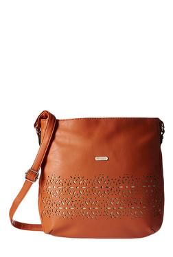 Lavie Dover Tan Cut Work Sling Bag