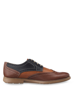 Ruosh Navy & Brown Brogue Shoes