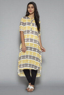 201af1fd7 Utsa By Westside Yellow Floral Print Kurta Best Deals With Price ...
