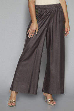 Zuba By Westside Charcoal Solid Palazzos
