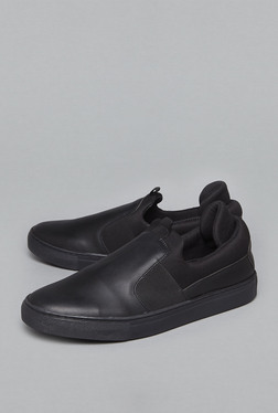 Soleplay By Westside Black Slip On Shoes