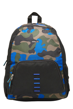 BagsRUs Gusto Green & Blue Printed Laptop Backpack