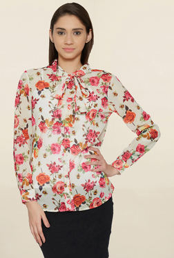 Globus Off White Floral Print Shirt
