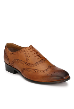 Afrojack Premium Dark Tan Brogue Shoes